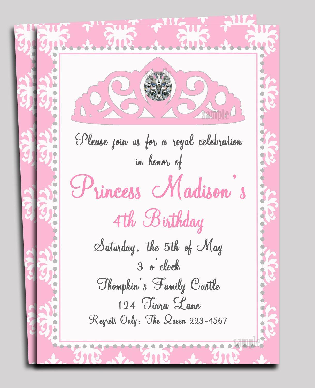 Free Disney Princess Tea Party Invitations