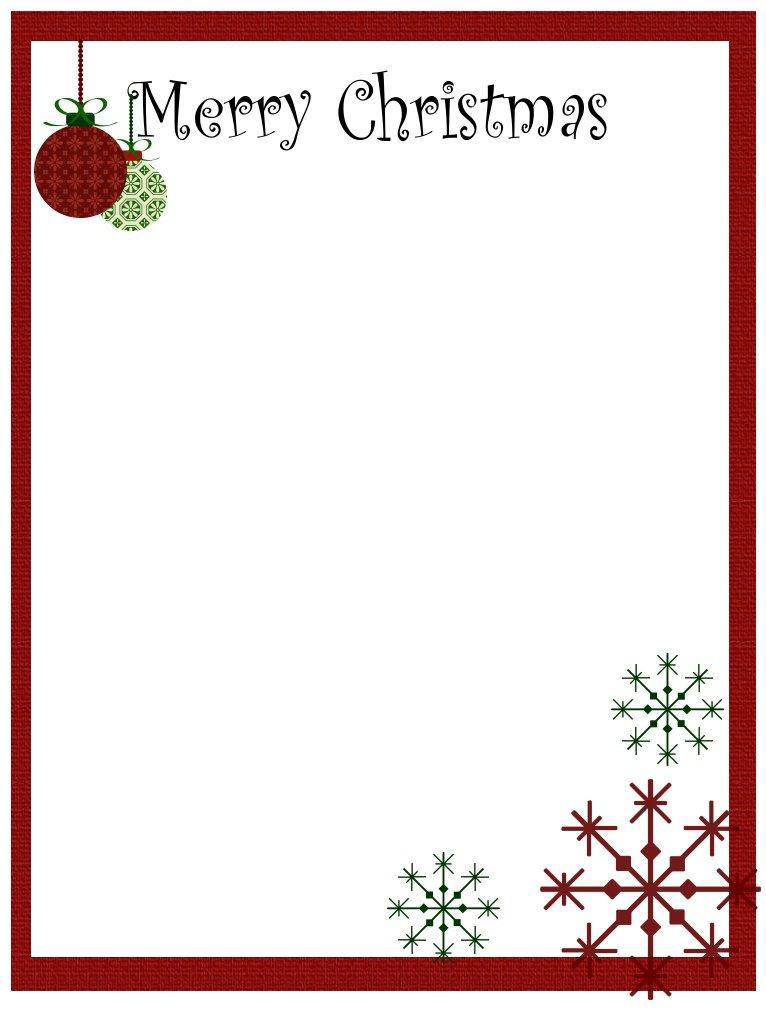 Free Downloadable Christmas Border Templates