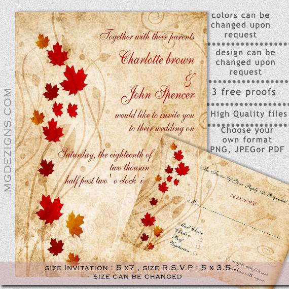 Free Fall Invitations Printable
