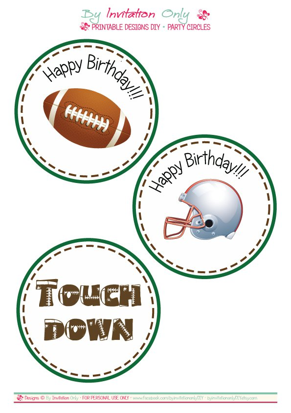 Free Football Birthday Invitations To Print