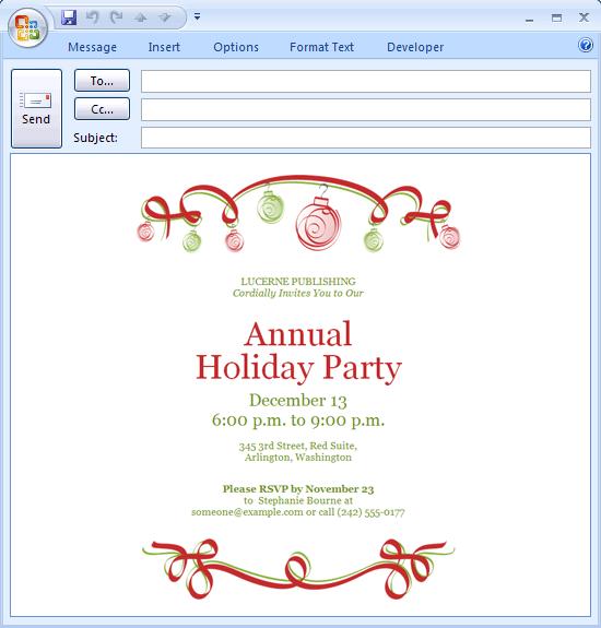 Free Fun Christmas Party Invitation Templates
