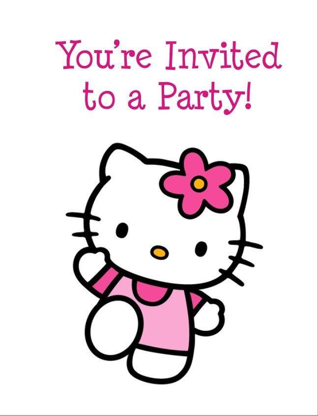 Free Hello Kitty Personalized Birthday Invitations
