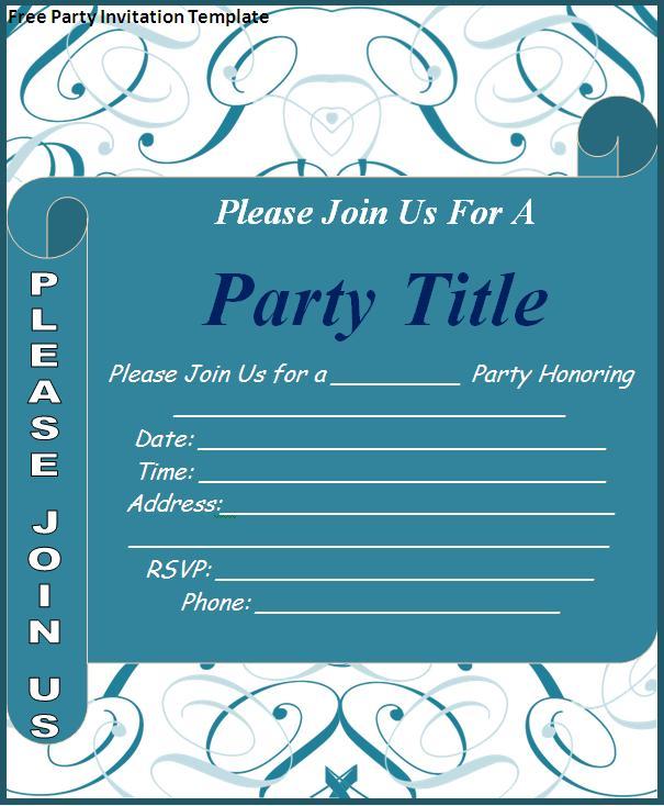 Free Invitation Templates Downloads
