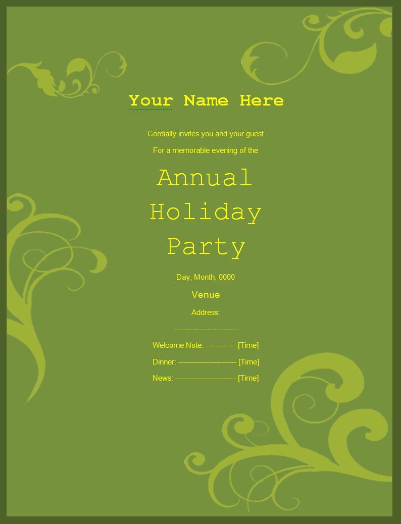 Free Invitation Templates Word