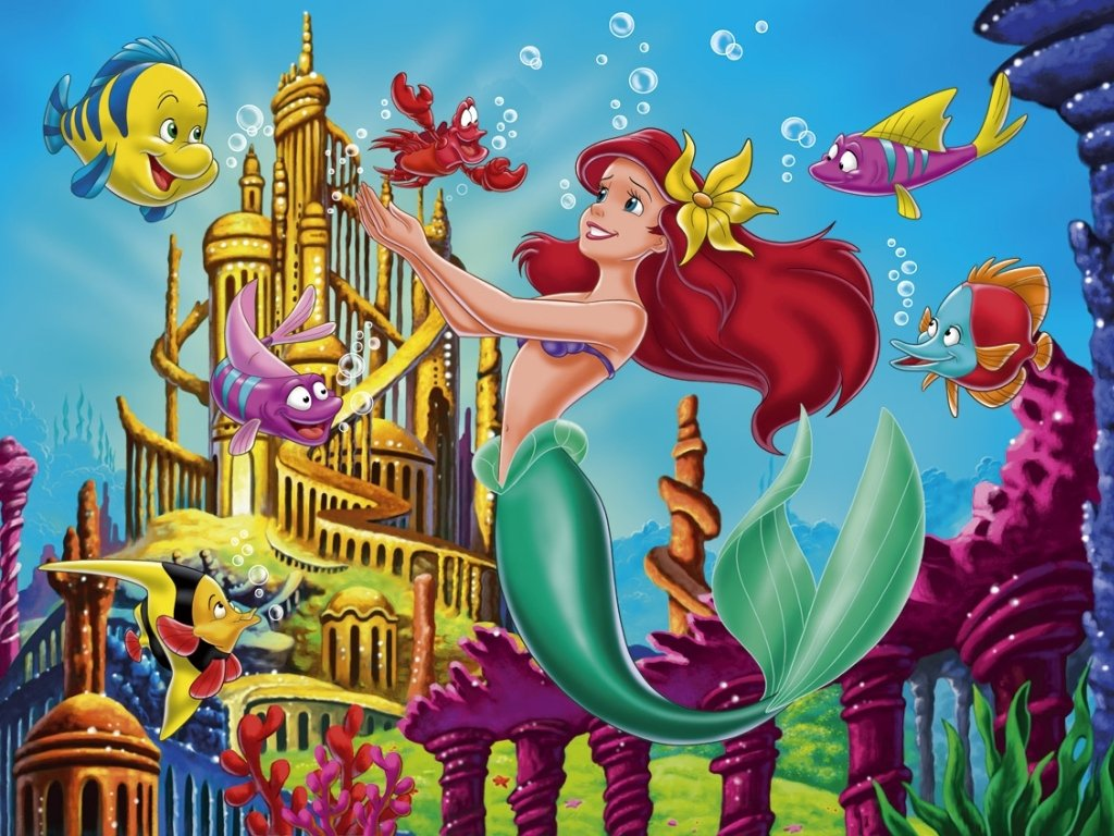 Free Little Mermaid Wallpaper