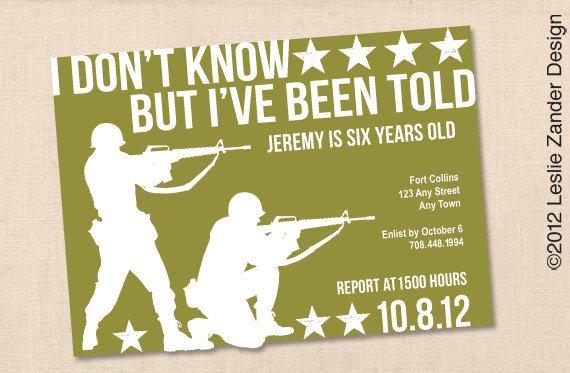 Free Military Party Invitation Templates