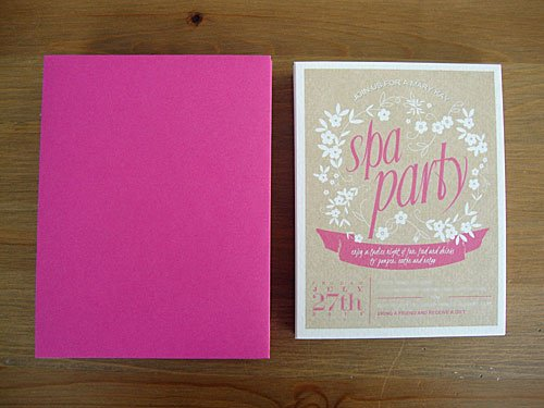 Free Online Spa Party Invitations