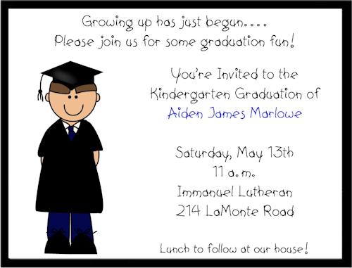Free Pre-k Graduation Invitations