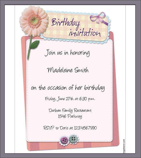 Free Printable 7th Birthday Invitation Templates