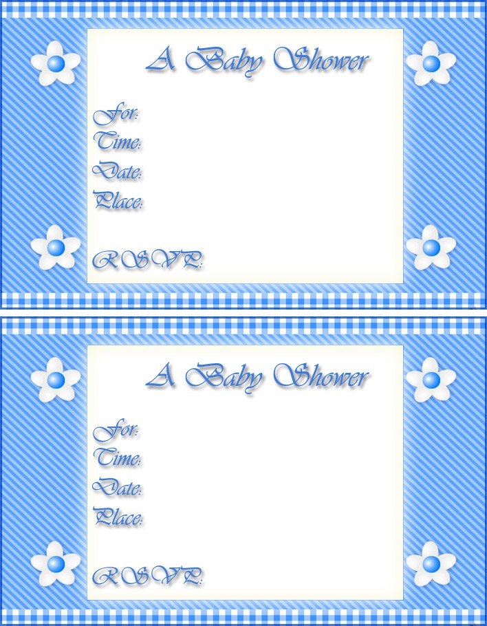 Free Printable Baby Boy Invitations
