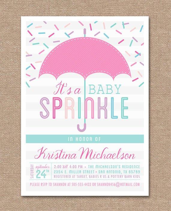 Free Printable Baby Sprinkle Invitation Templates