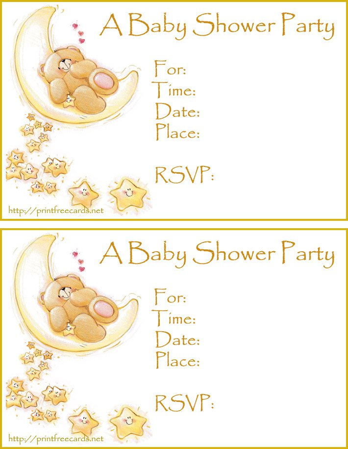 Free Printable Baby Sprinkle Invitations Templates