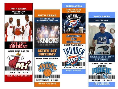Free Printable Basketball Birthday Party Invitations