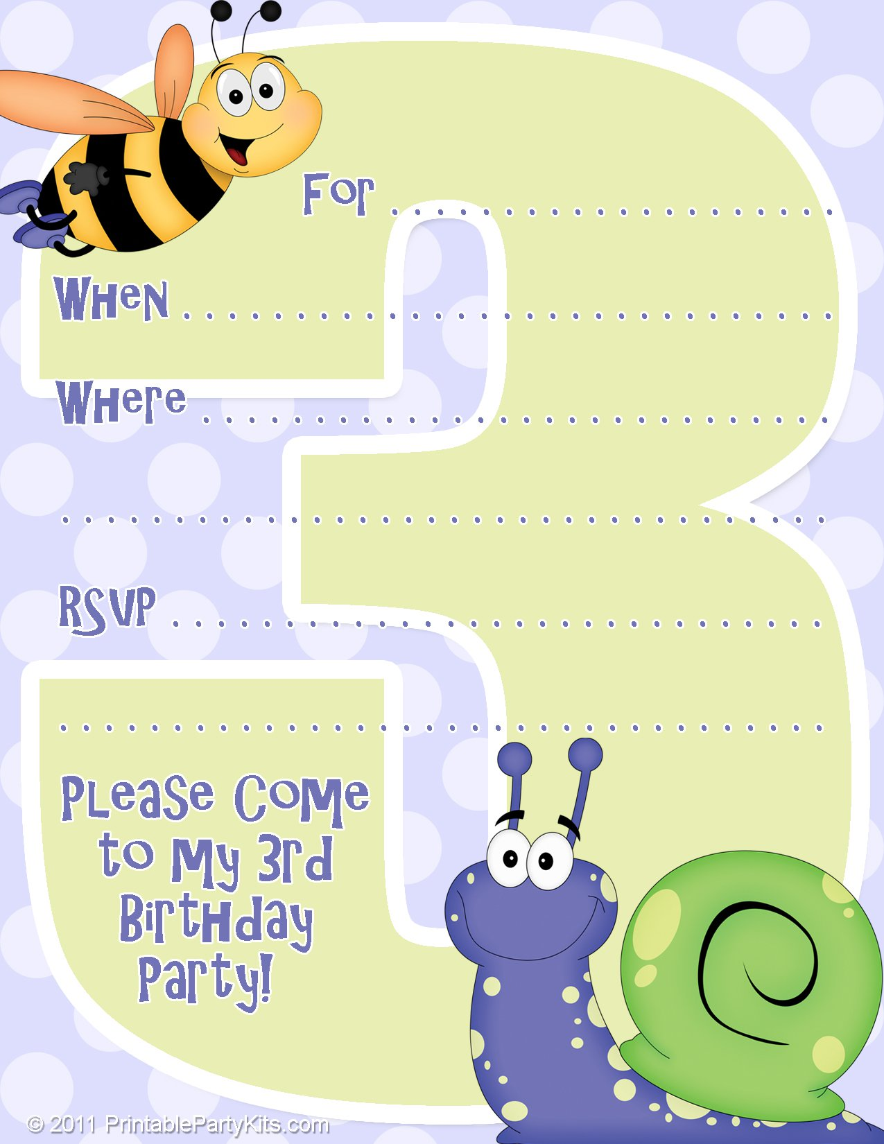 Free Printable Birthday Invitation Kits