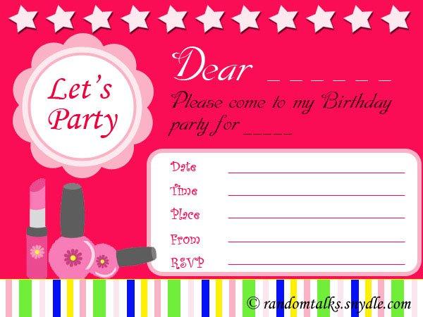 Free Printable Birthday Invitations For Girls Purple