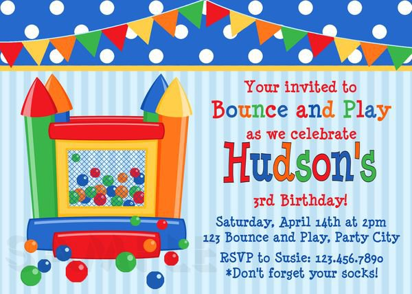 Free Printable Bounce House Invitations