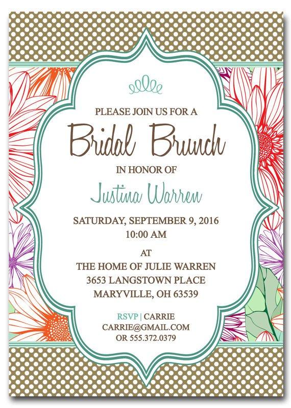 Free Printable Bridal Brunch Invitations
