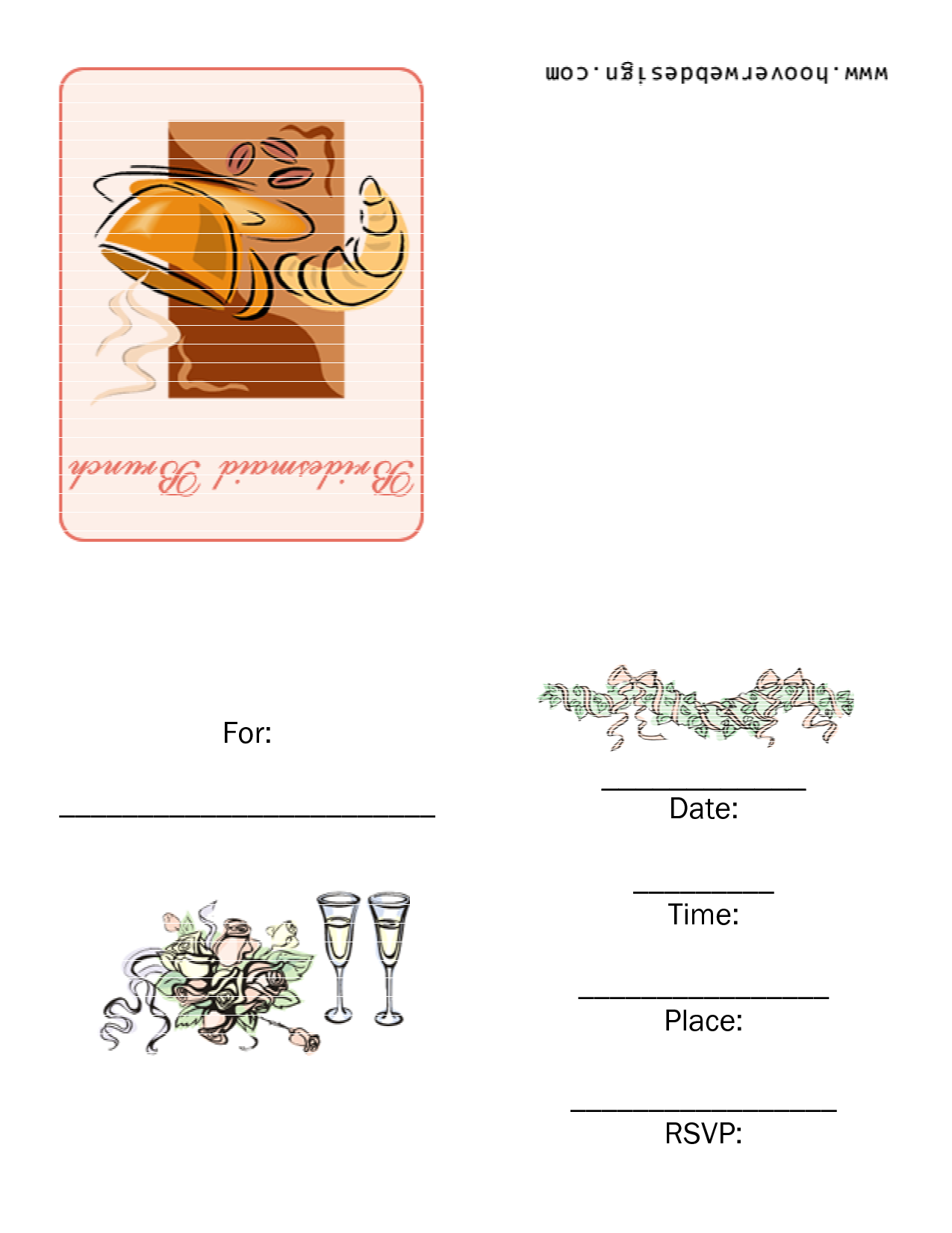 Free Printable Brunch Invitations