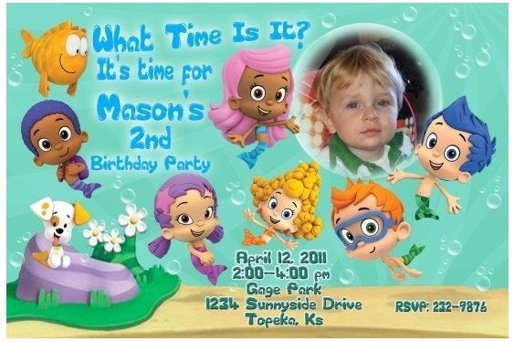Free Printable Bubble Guppies Party Invitations
