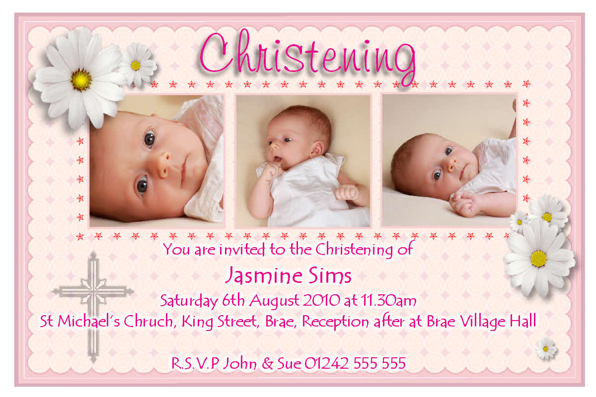 Free Printable Christening Invitation For Baby Boy