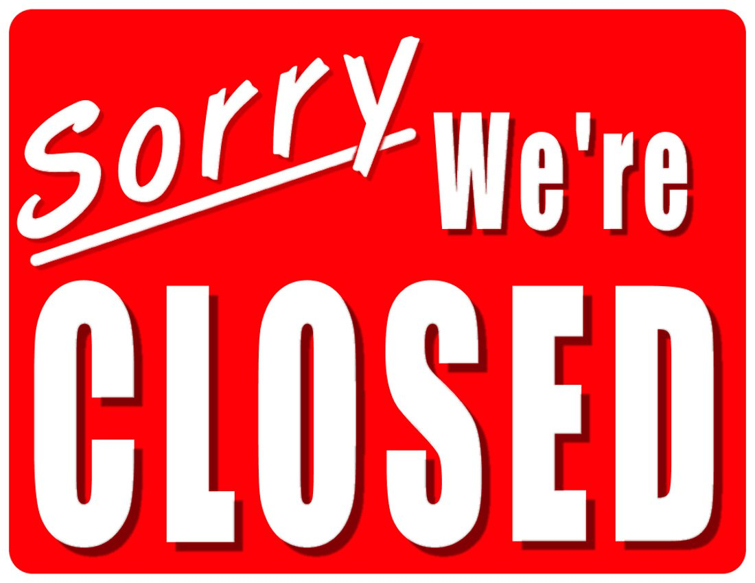 Enterprising image with holiday closed signs printable