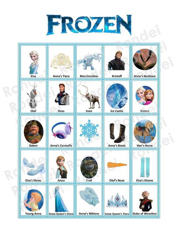Free Printable Disney Princess Bingo Cards