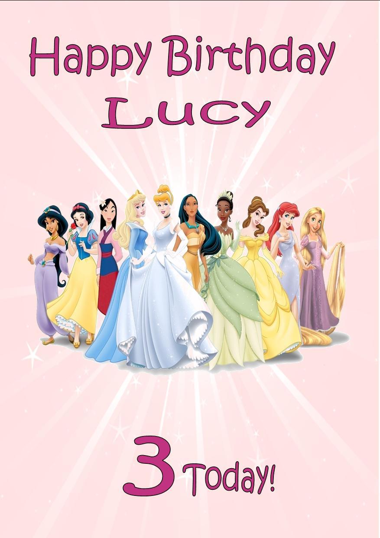 Free Printable Disney Princess Cards