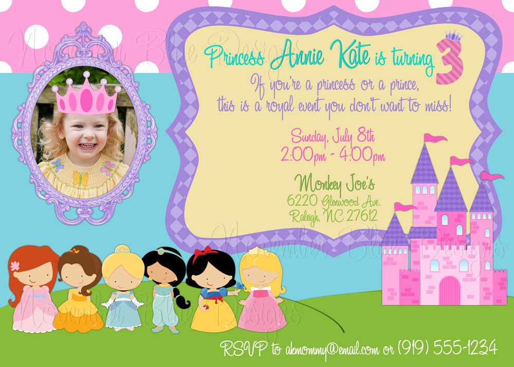 Free printable princess birthday invitations romeondinez free printable princess birthday invitations filmwisefo