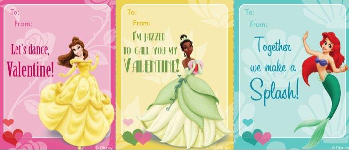 Free Printable Disney Princess Valentine Cards