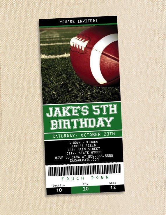 Free Printable Football Invitations Templates