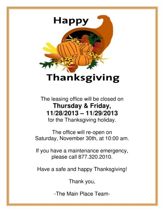 Légend image throughout holiday closed signs printable