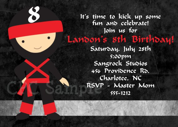 Free Printable Ninja Invitations