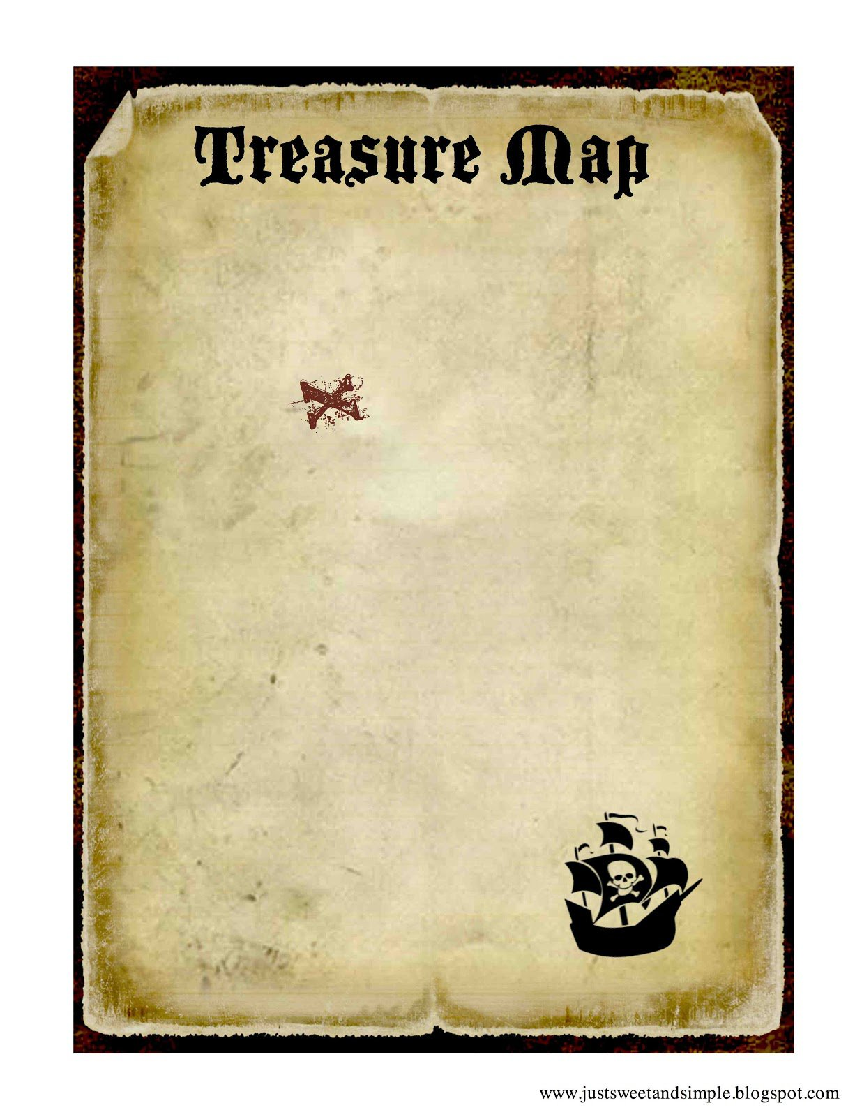 Printable Pirate Map Templates