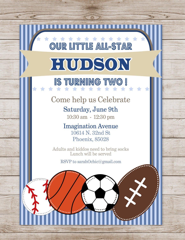 Free Printable Softball Birthday Party Invitations