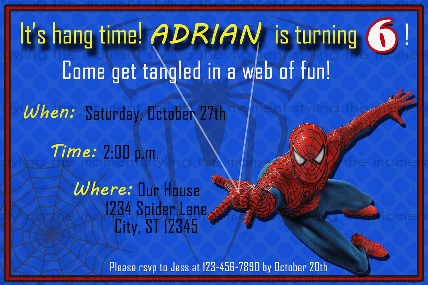 Free Printable Spiderman Invitation Card