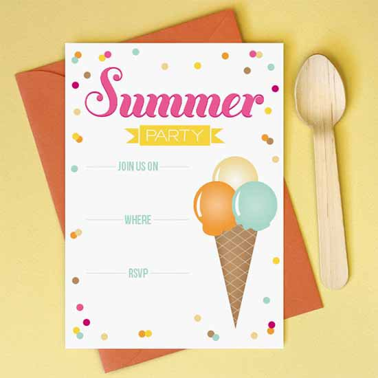 Free Printable Summer Party Invitations – Free Summer Party Invitation Templates