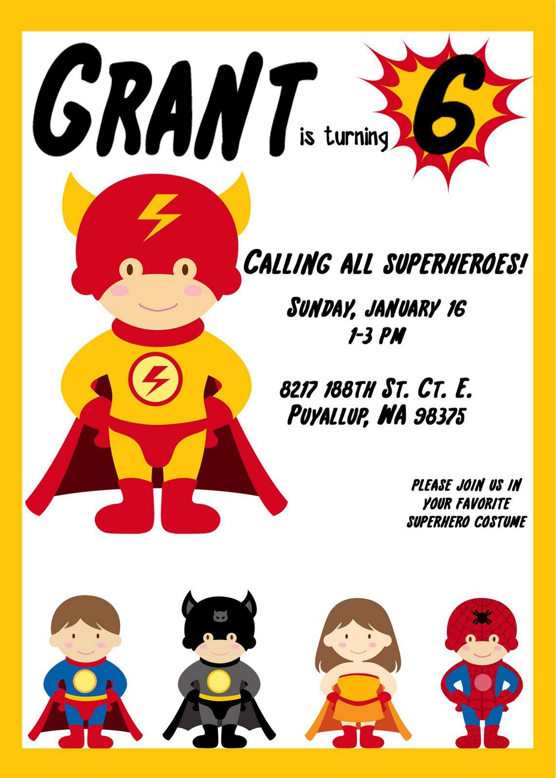 It's just an image of Lucrative Free Printable Superhero Birthday Invitation Templates