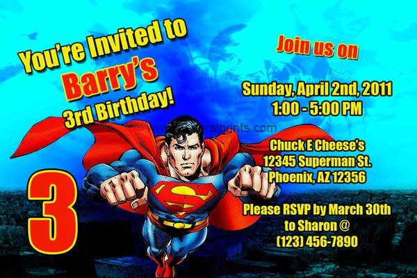 Free Printable Superman Invitations