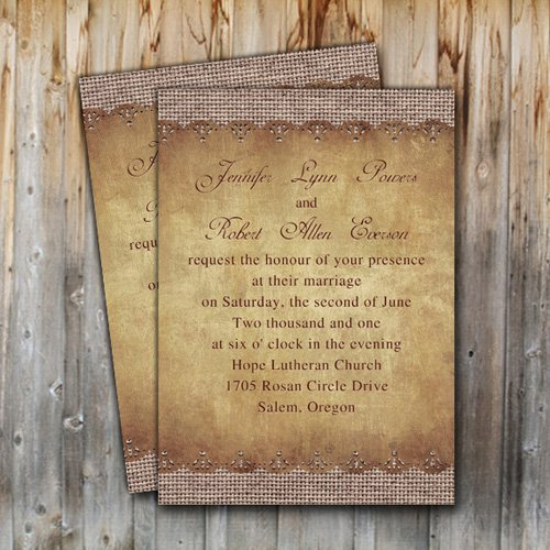 Free Printable Wedding Invitations Rustic