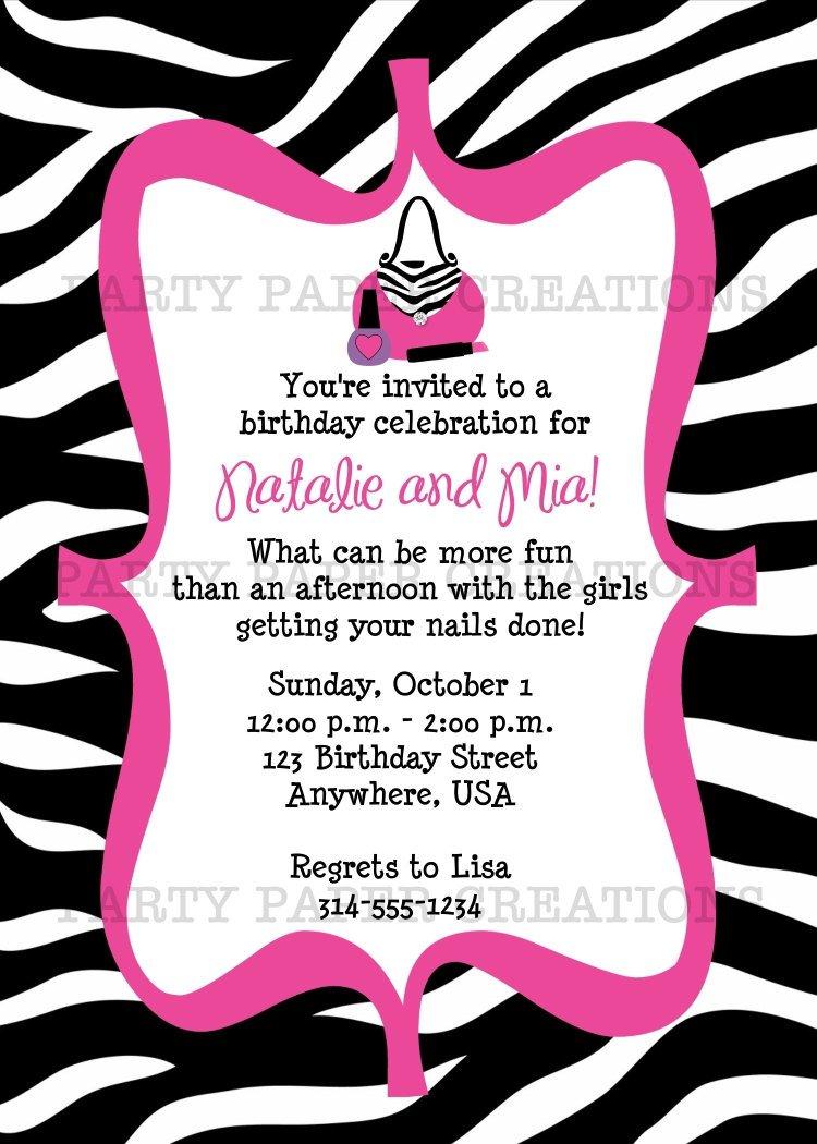 Free Printable Zebra Birthday Invitations