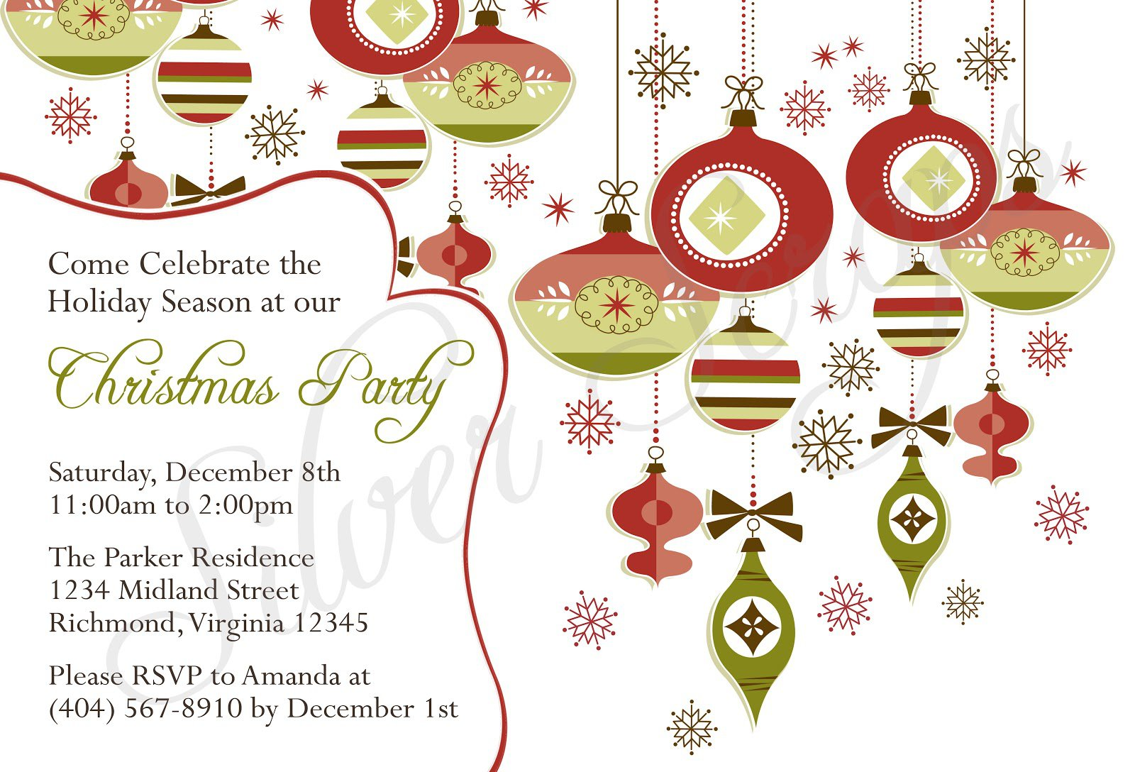 free christmas party invitation templates - religious christmas invitation templates