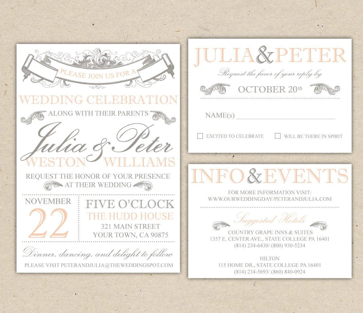 Free Rustic Wedding Invitation Printables