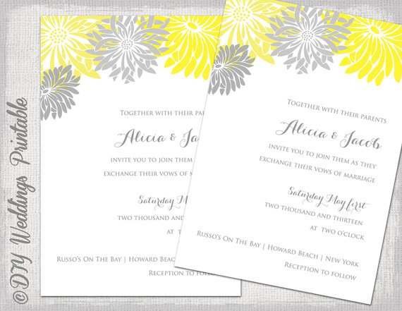 Free Summer Wedding Invitation Templates