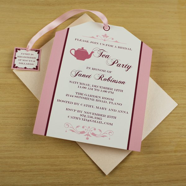 Free Tea Bag Invitation Template