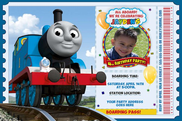 Free Thomas And Friends Birthday Invitation Templates