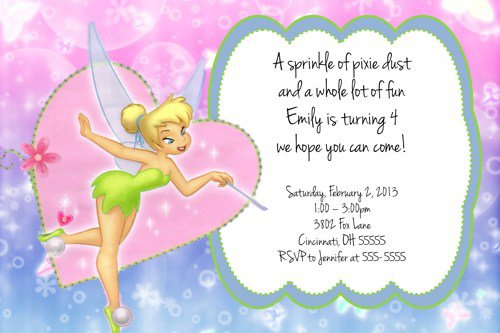 tinkerbell party invitations, Party invitations