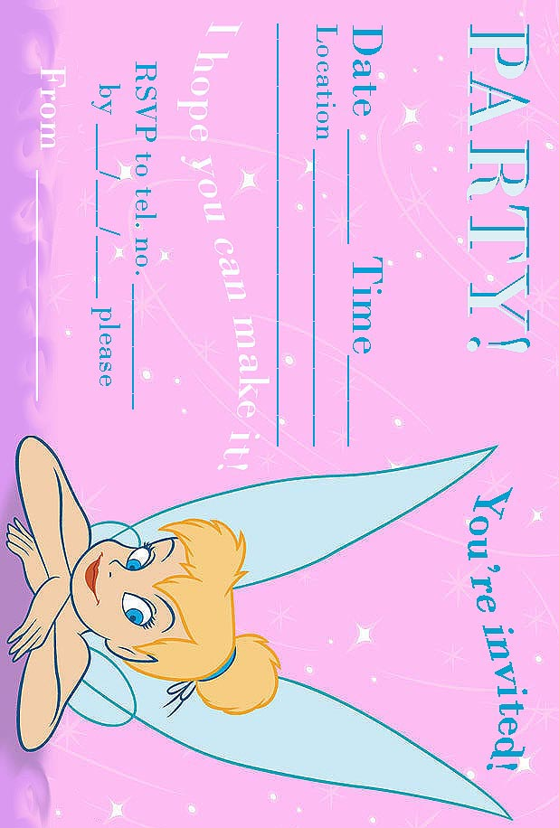 Free Tinkerbell Party Invitations Printable