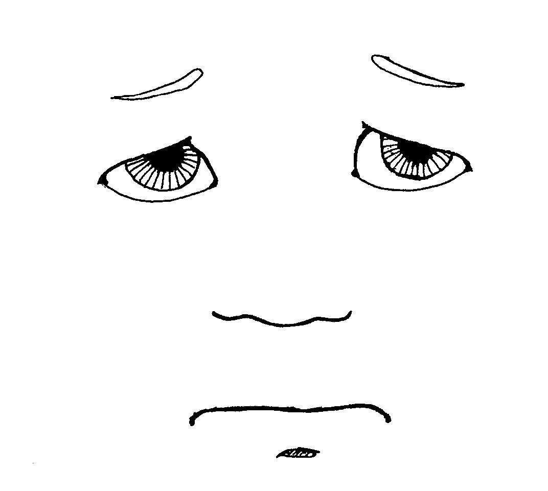 Frowny Face Coloring Page