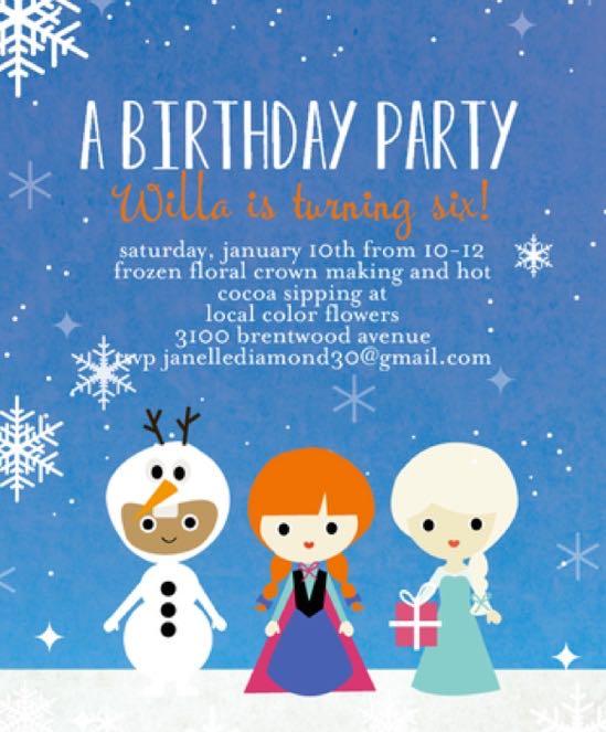 Frozen Birthday Invitations Tiny Prints