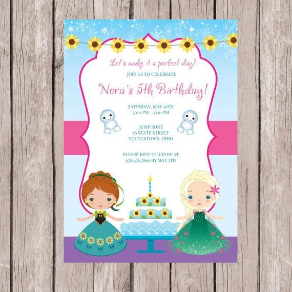 Frozen Fever Birthday Invitations